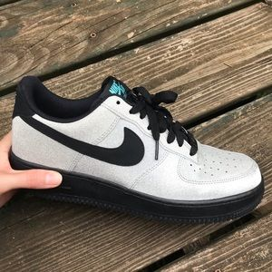 Nike Shoes - 💍Silver sparkle💍Air Force one Nike shoes